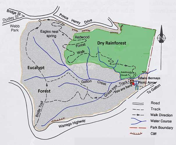Redwood Park site map